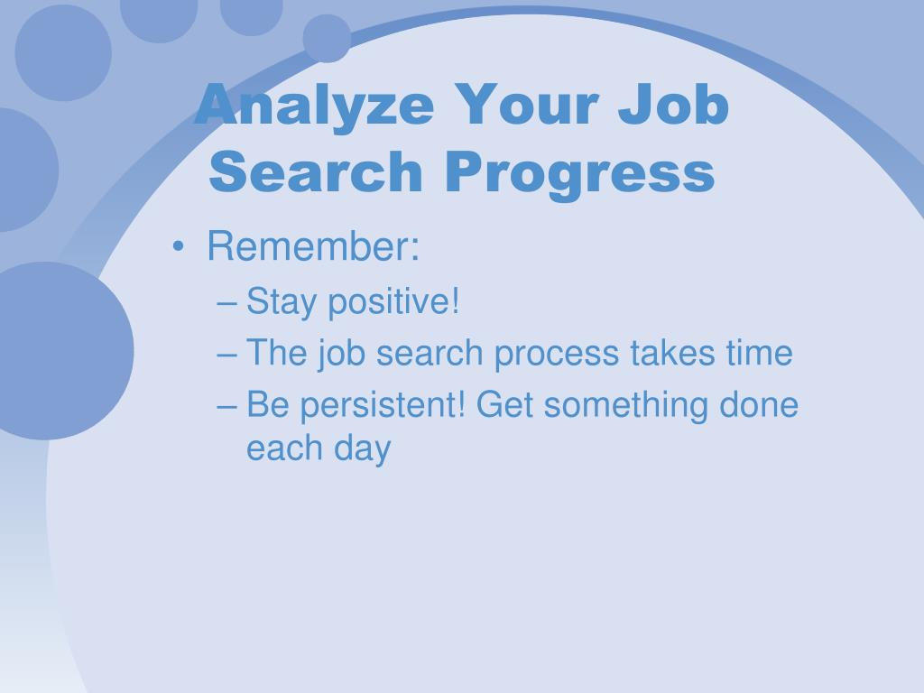 Analyze Your Job Search Progress
