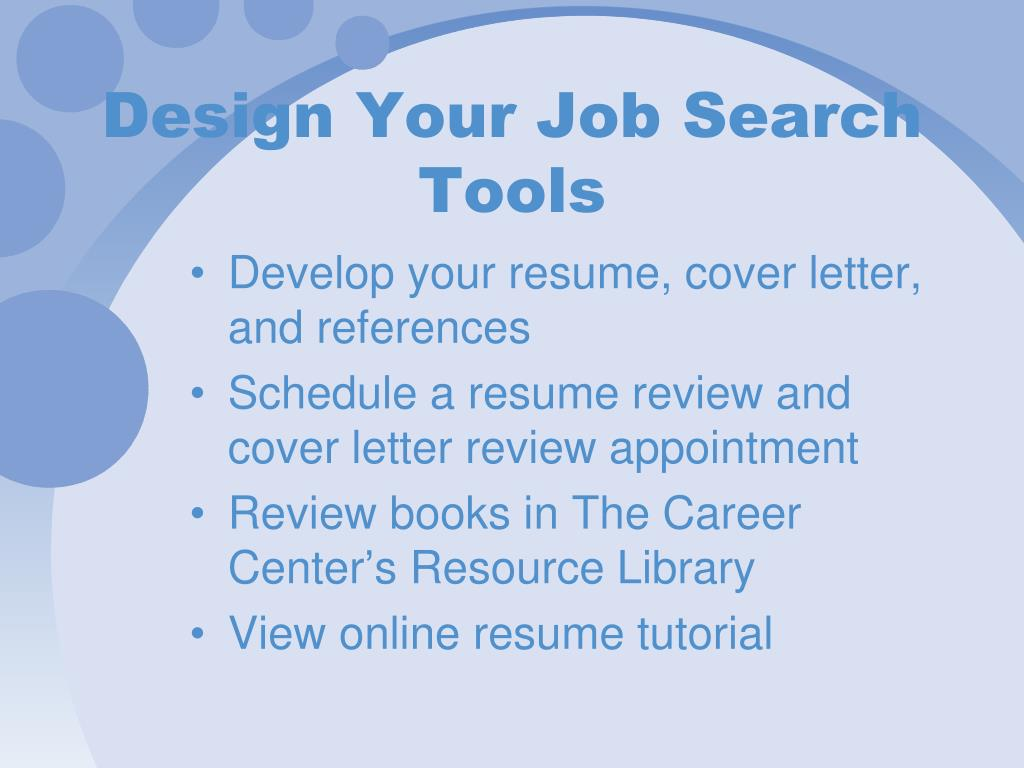 Design Your Job Search Tools