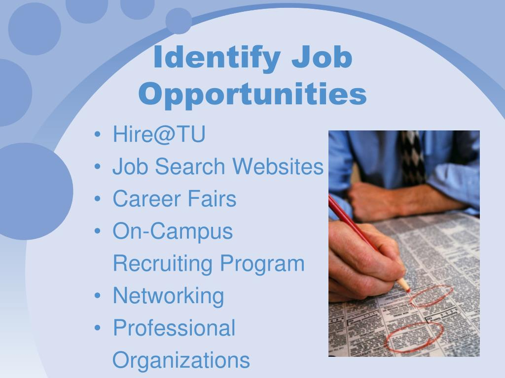 Identify Job Opportunities