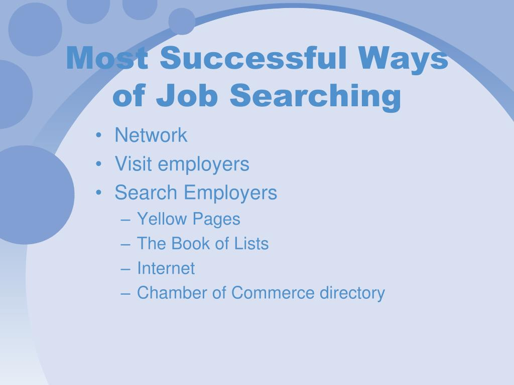 Most Successful Ways of Job Searching
