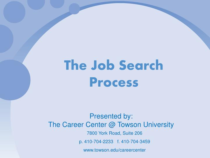 The job search process