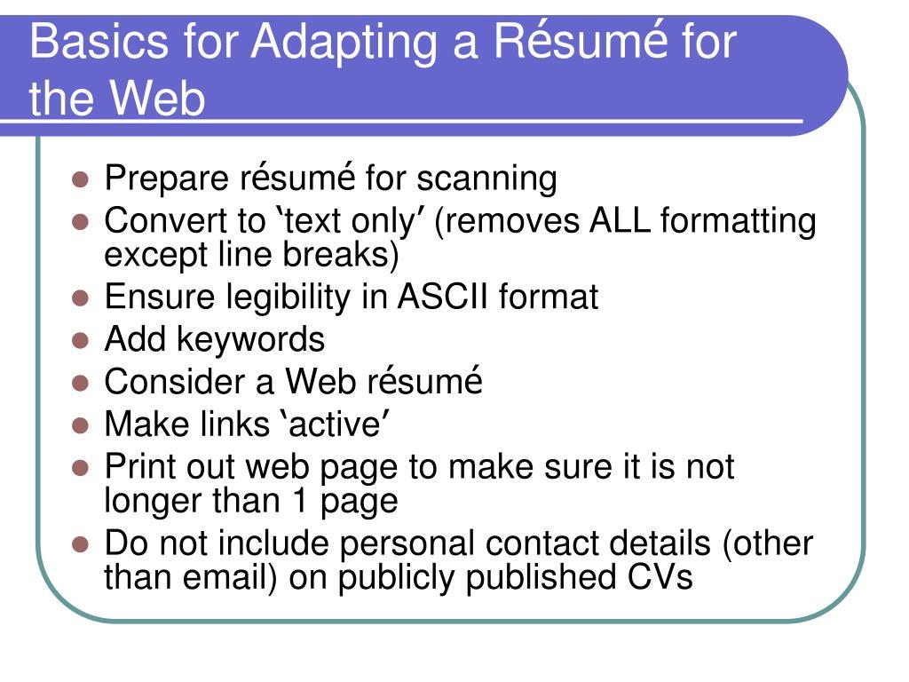 Basics for Adapting a R