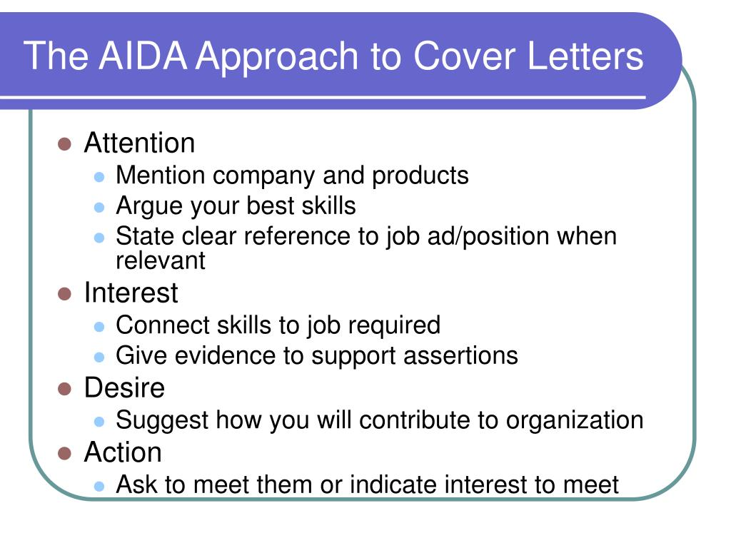 The AIDA Approach to Cover Letters