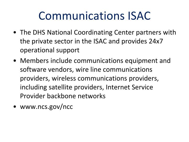 Communications ISAC
