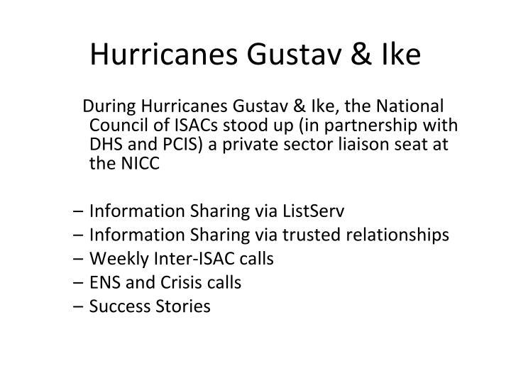 Hurricanes Gustav & Ike