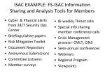 isac example fs isac information sharing and analysis tools for members