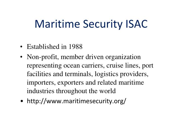 Maritime Security ISAC