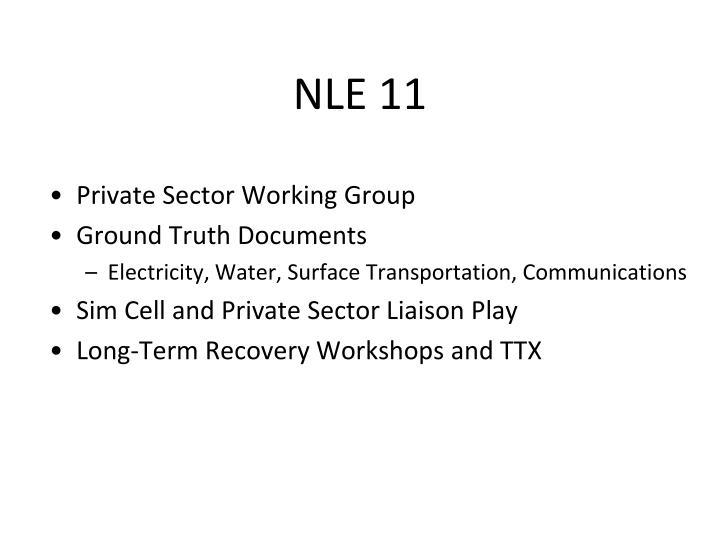 NLE 11