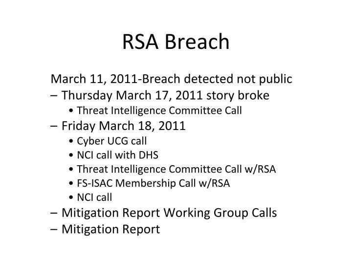 RSA Breach