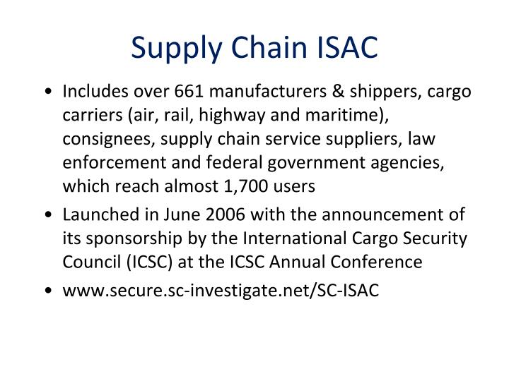 Supply Chain ISAC