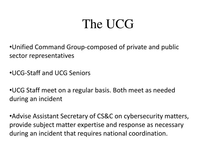 The UCG