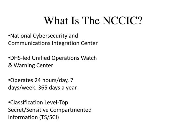 What Is The NCCIC?