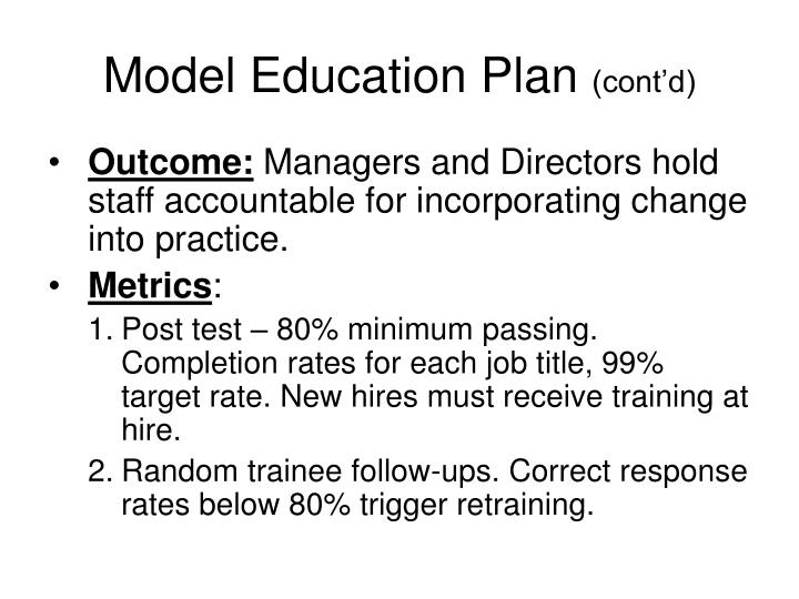 Model Education Plan