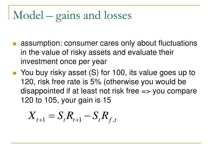 Model – gains and losses