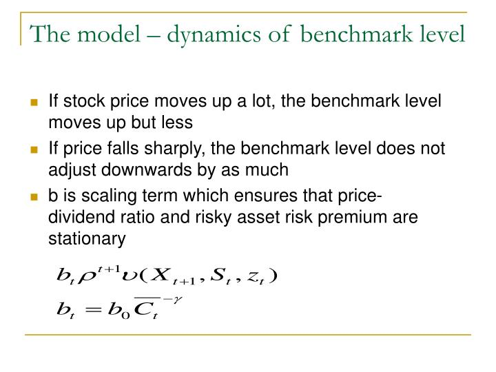 The model – dynamics of benchmark level
