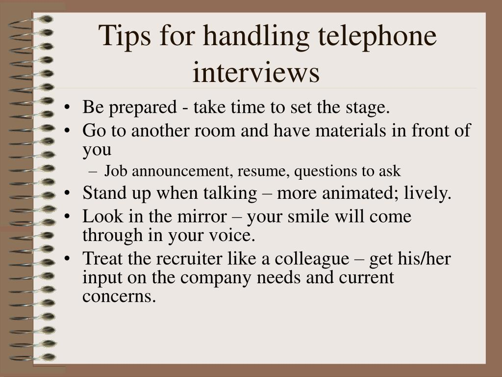 Tips for handling telephone interviews