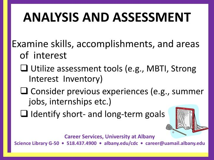 Analysis and assessment