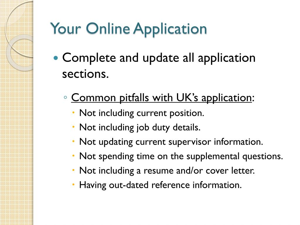 Your Online Application