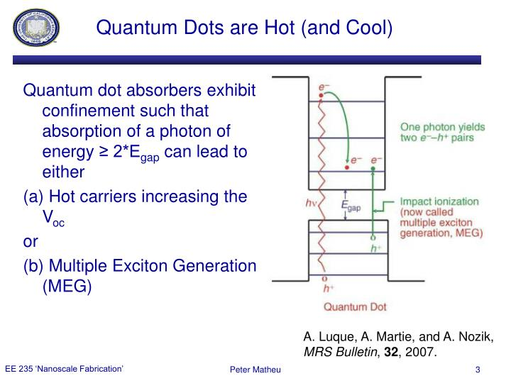 Quantum dots are hot and cool