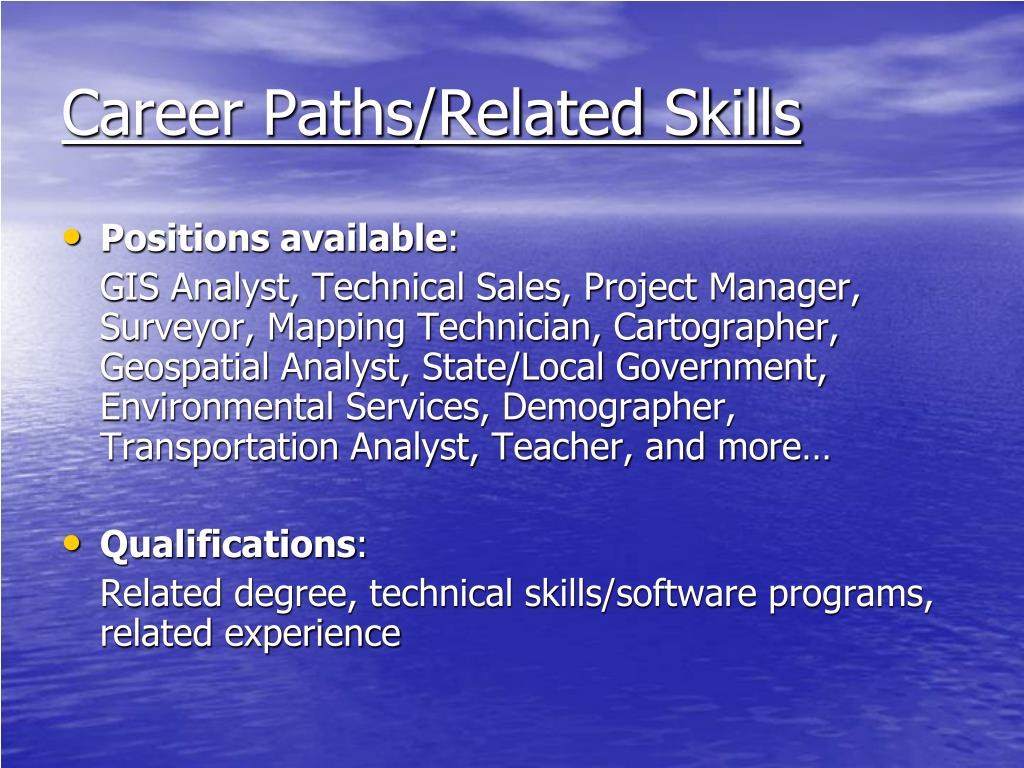 Career Paths/Related Skills