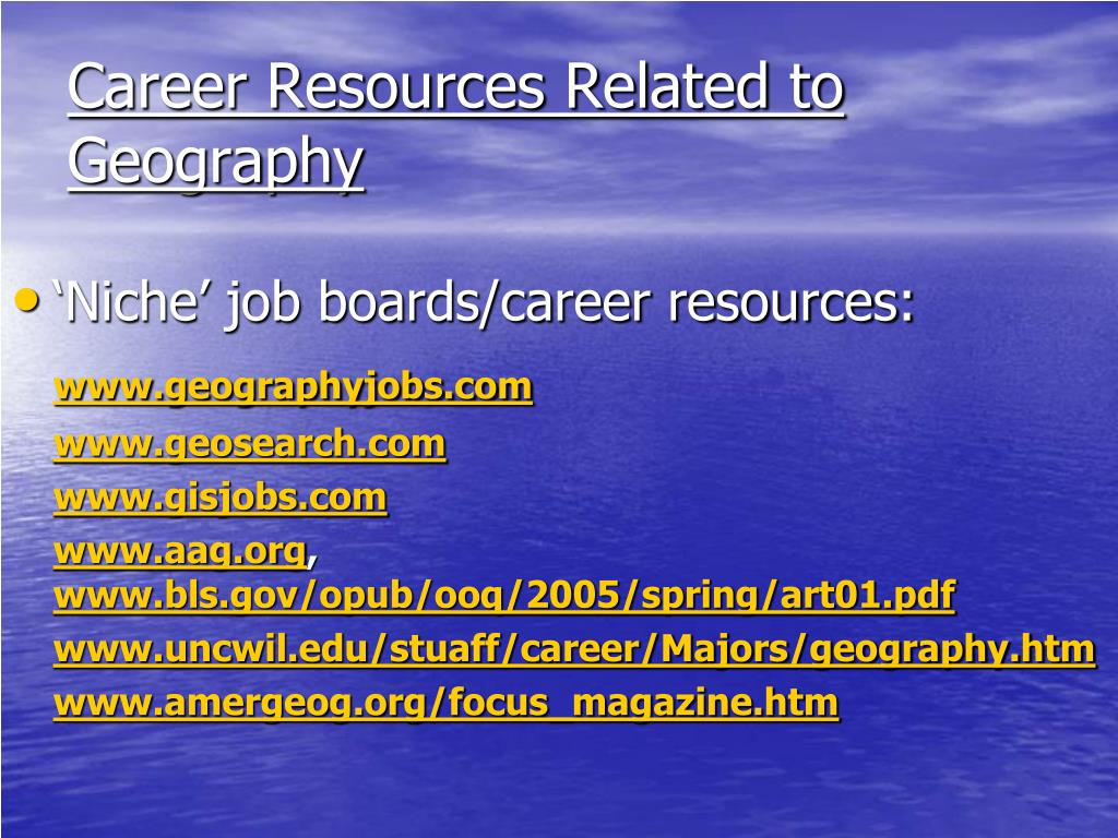 Career Resources Related to Geography