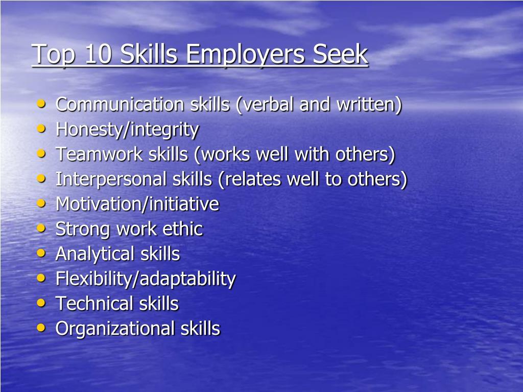 Top 10 Skills Employers Seek