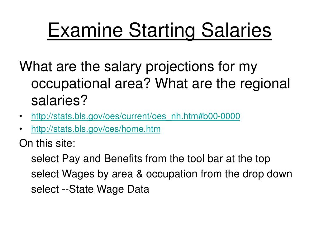 Examine Starting Salaries