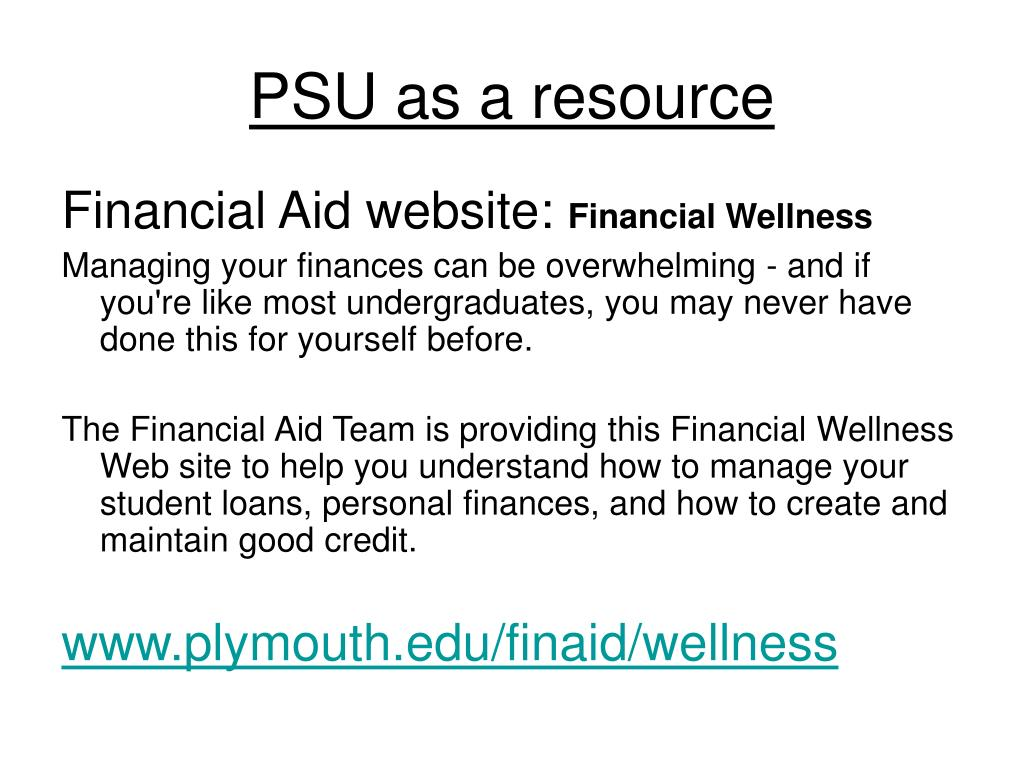 PSU as a resource