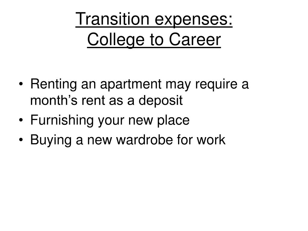 Transition expenses: