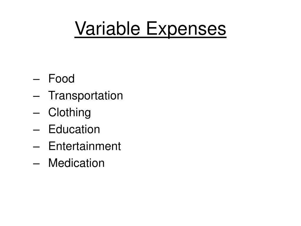 Variable Expenses