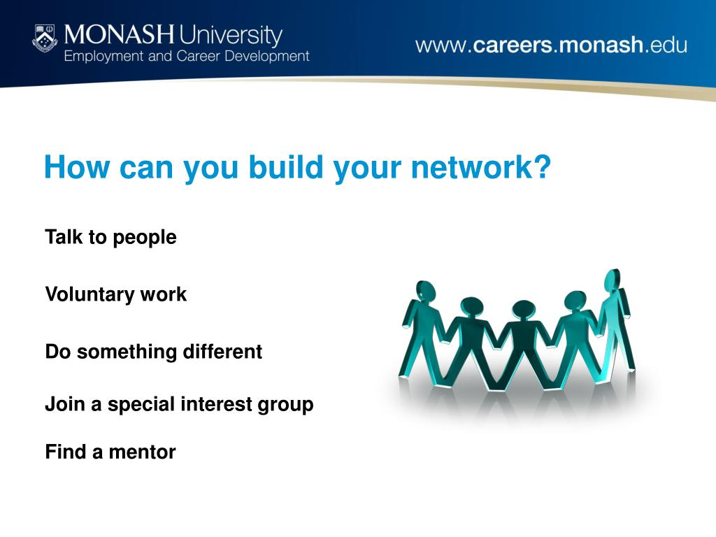 How can you build your network?