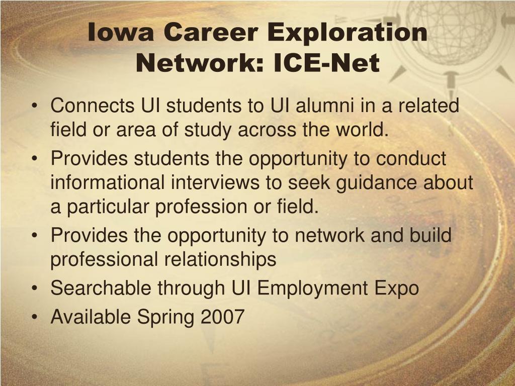 Iowa Career Exploration Network: ICE-Net