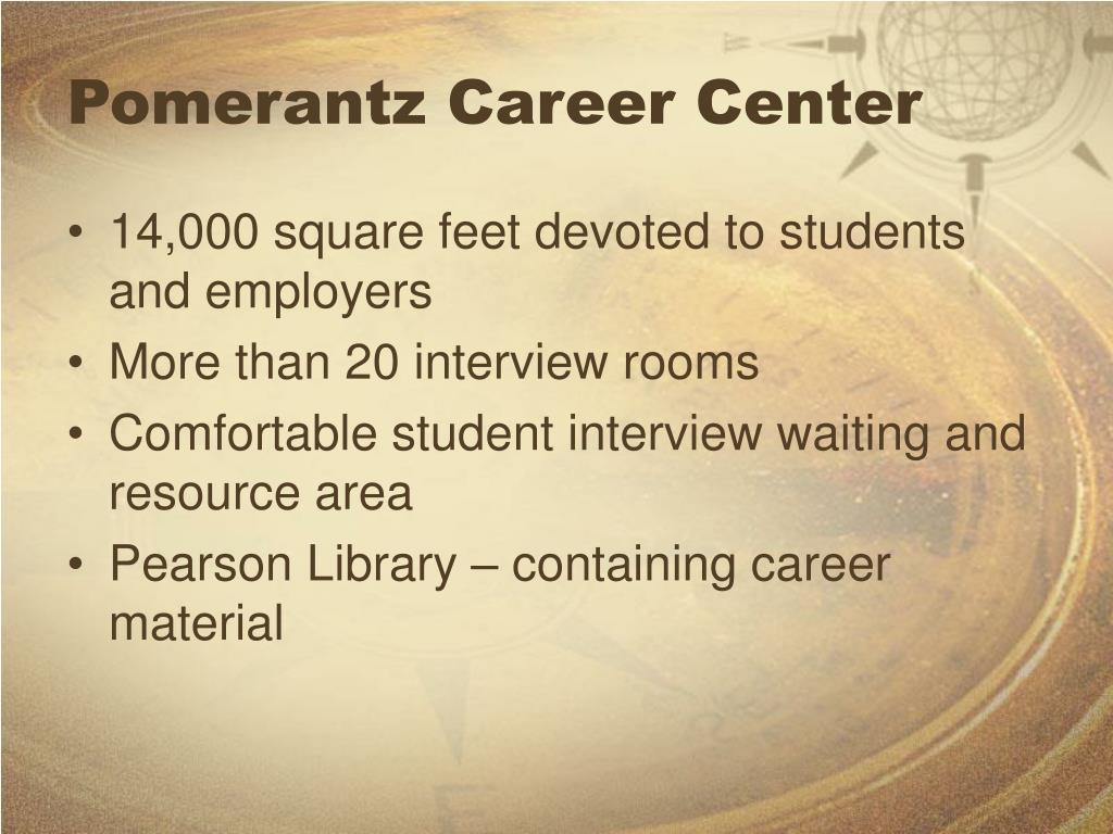 Pomerantz Career Center