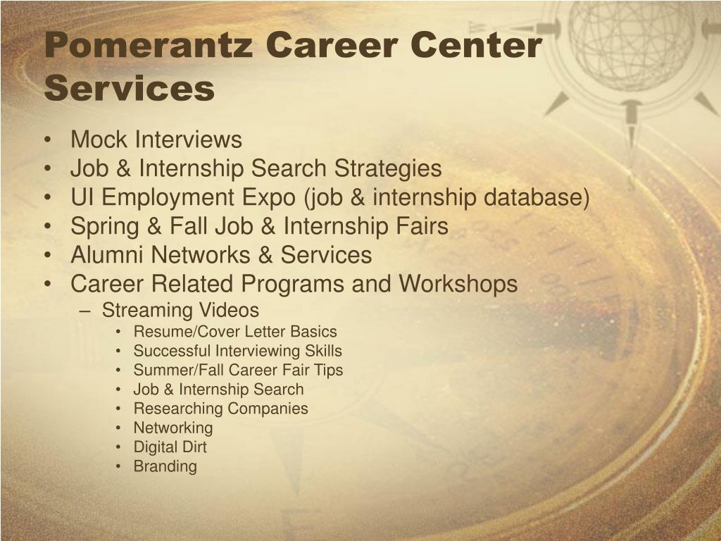 Pomerantz Career Center Services