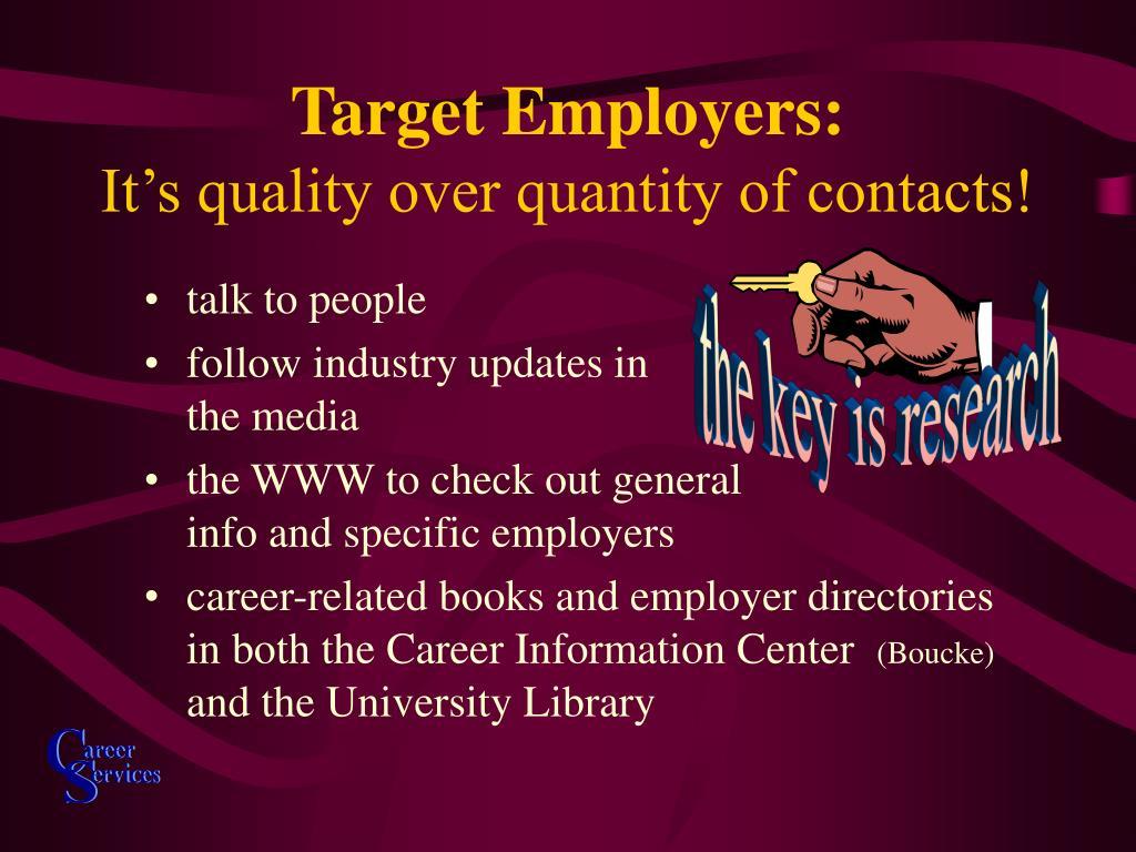 Target Employers: