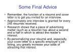 some final advice