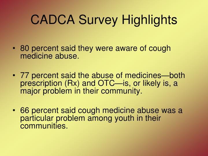 CADCA Survey Highlights