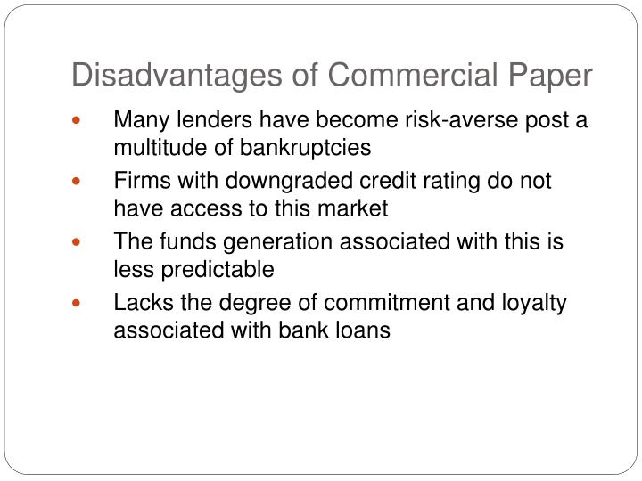 the term commercial paper refers to loans