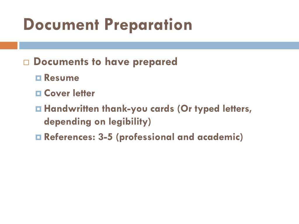 Document Preparation