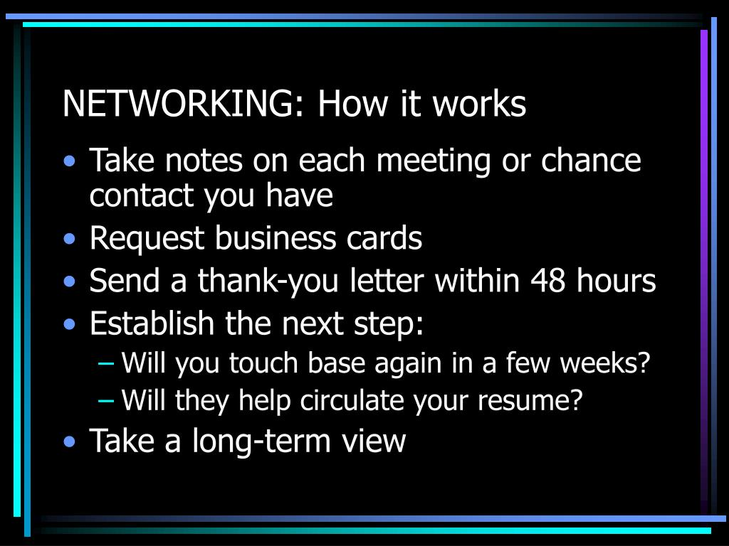 NETWORKING: How it works
