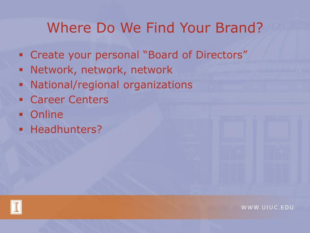 Where Do We Find Your Brand?
