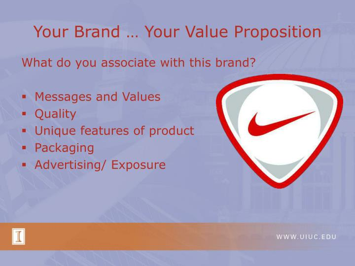 Your brand your value proposition l.jpg