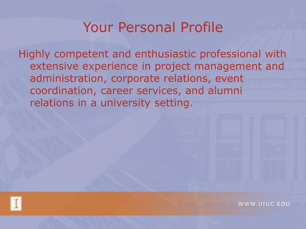 Your Personal Profile