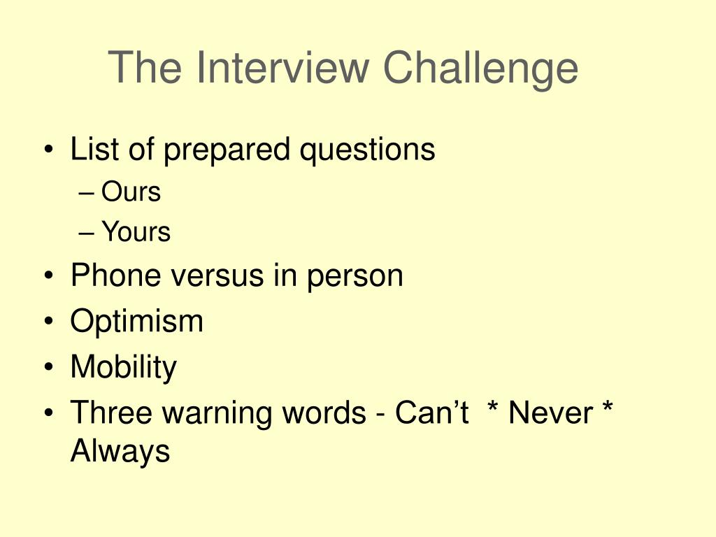 The Interview Challenge