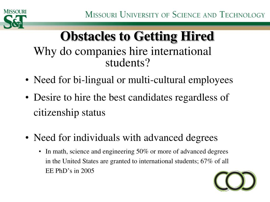 Obstacles to Getting Hired