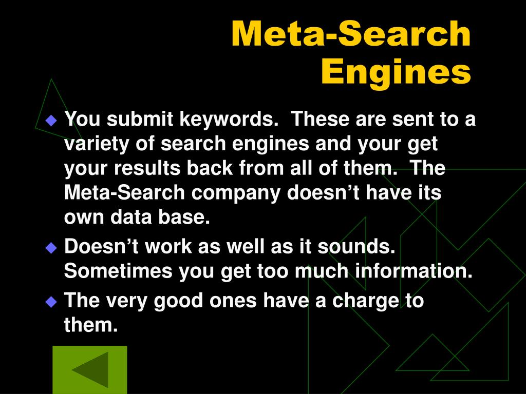 Meta-Search Engines