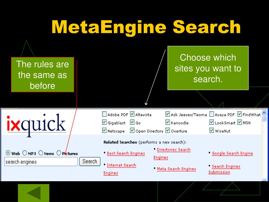 MetaEngine Search