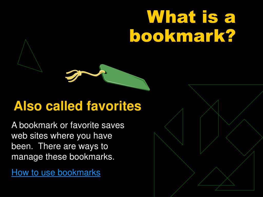 What is a bookmark?