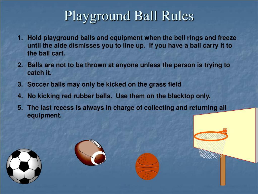 Playground Ball Rules