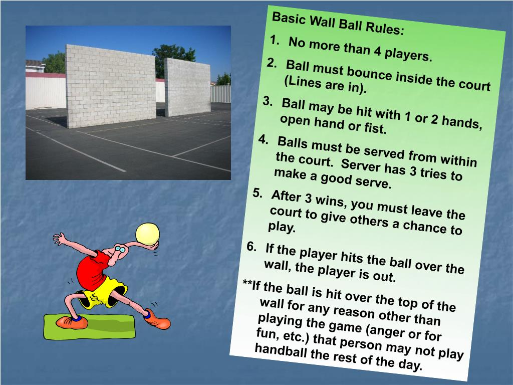 Basic Wall Ball Rules: